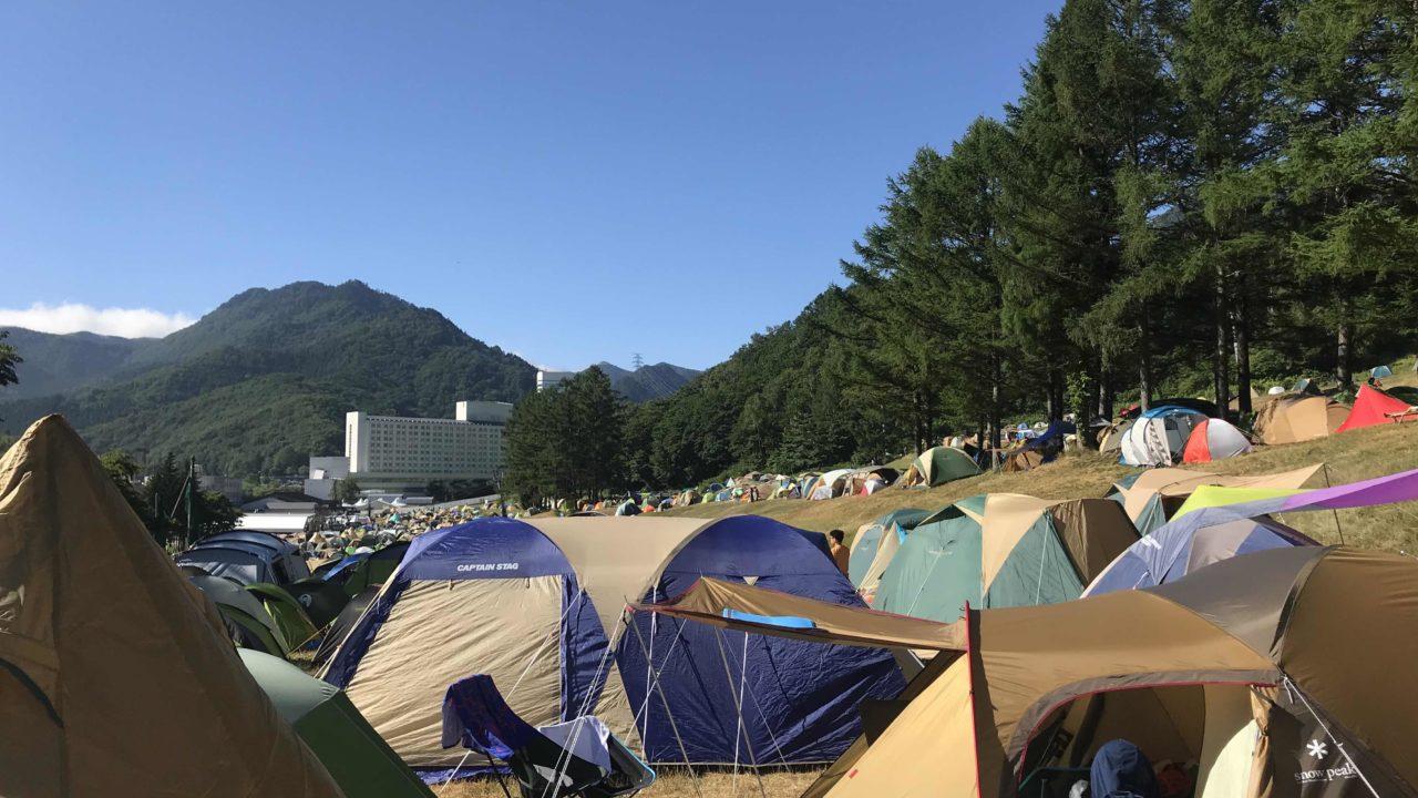 fujirock-campsite